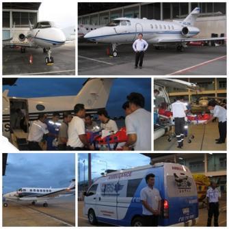 บริการเครื่องบินเช่าเหมาลำรับส่งผู้ป่วย พร้อมทีมแพทย์และพยาบาล พร้อมรถพยาบาล คอยดูแลคนที่คุณห่วงใย ติดต่อ คุณ เสถียร(บอย)086-347-4486, 081-400-8047